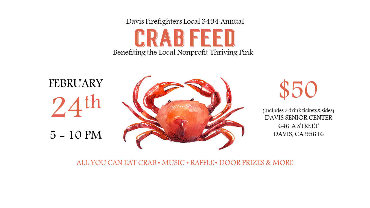 Davis Firefighters Local 3494 Crab Feed
