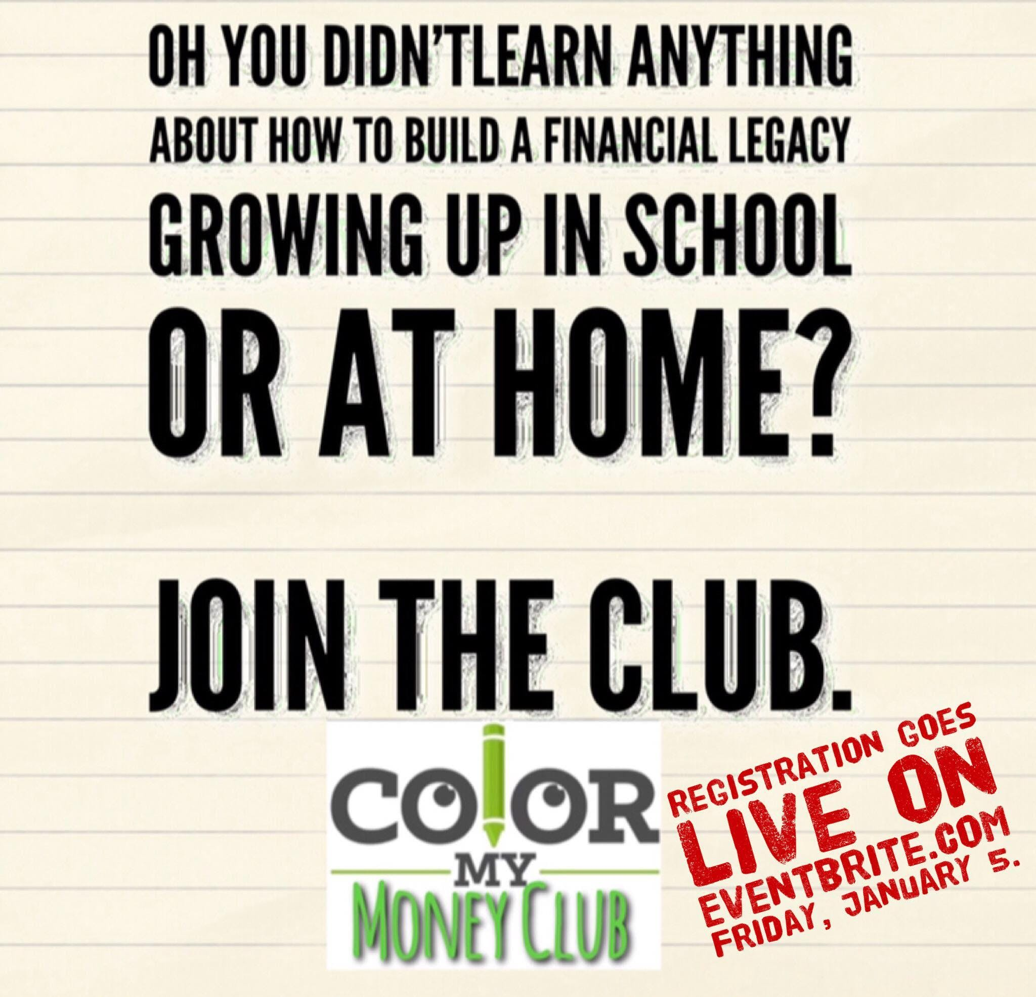 Color My Money Club