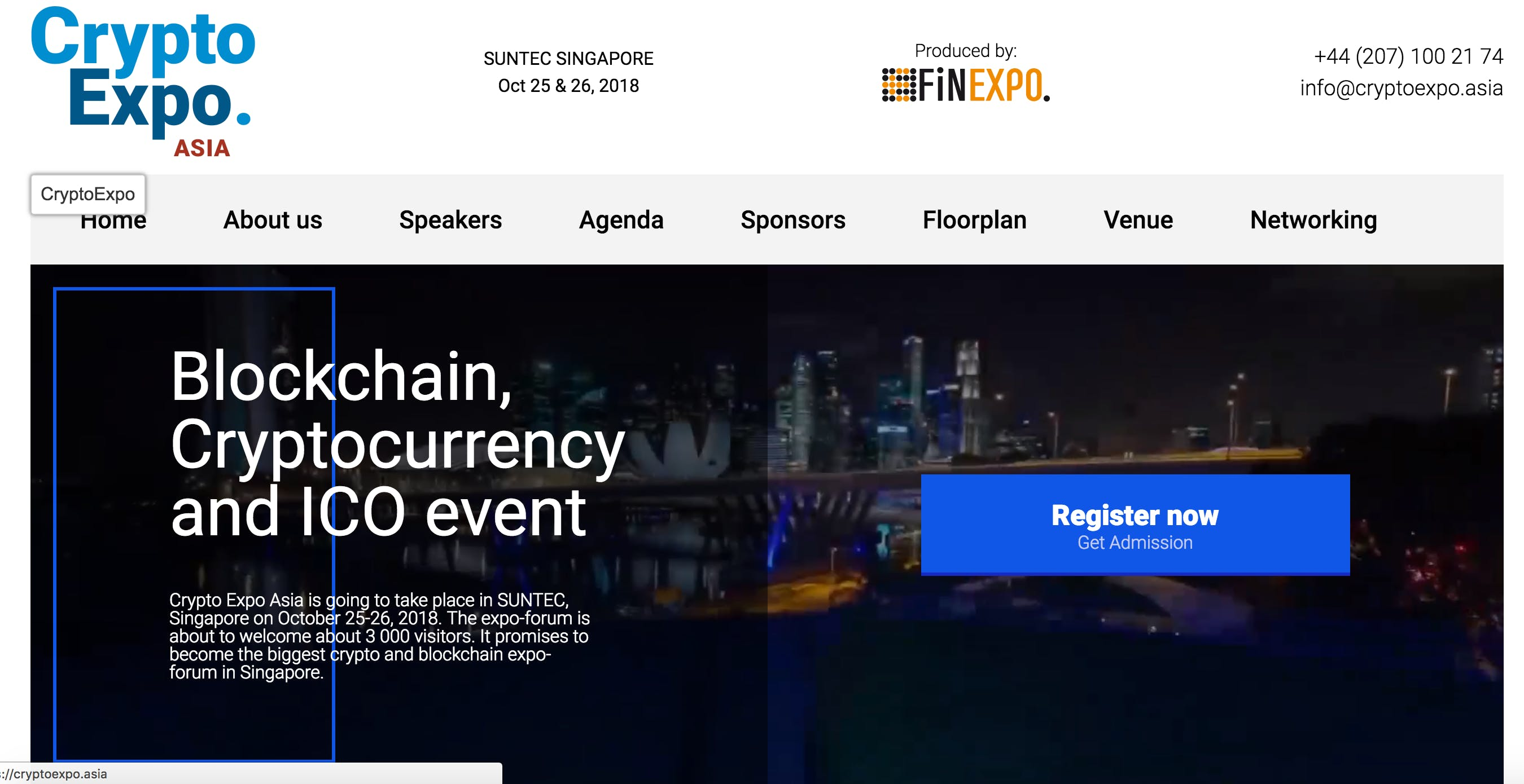 Crypto Expo Asia 2018 - Singapore (Financial