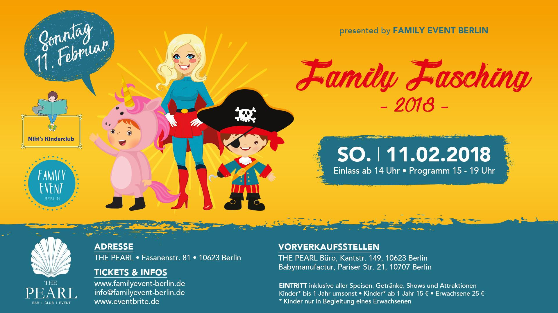 Family Fasching 2018 @ THE PEARL ... - Berlin - 11/02/18 - Evensi