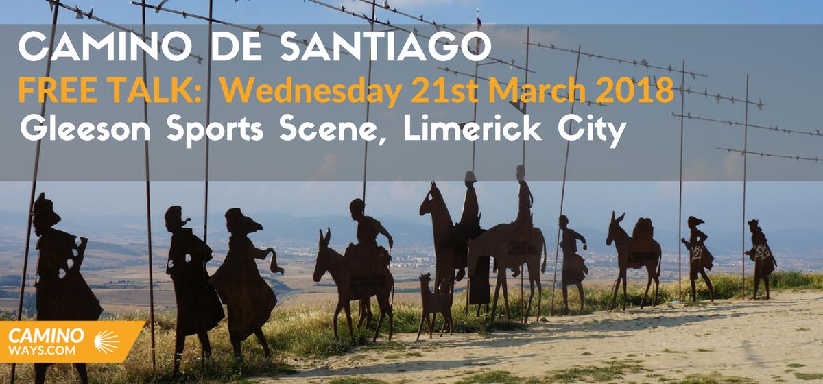 Free Camino Talk- Gleeson Sport Scene, Limerick