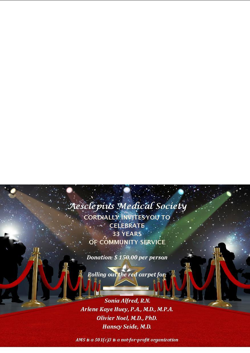 Aesclepius Medical Society's 33rd Anniversary