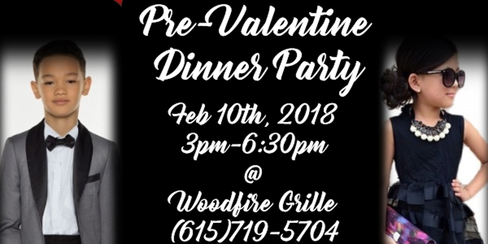 kidz pre valentines day dinner party woodfire grille tickets