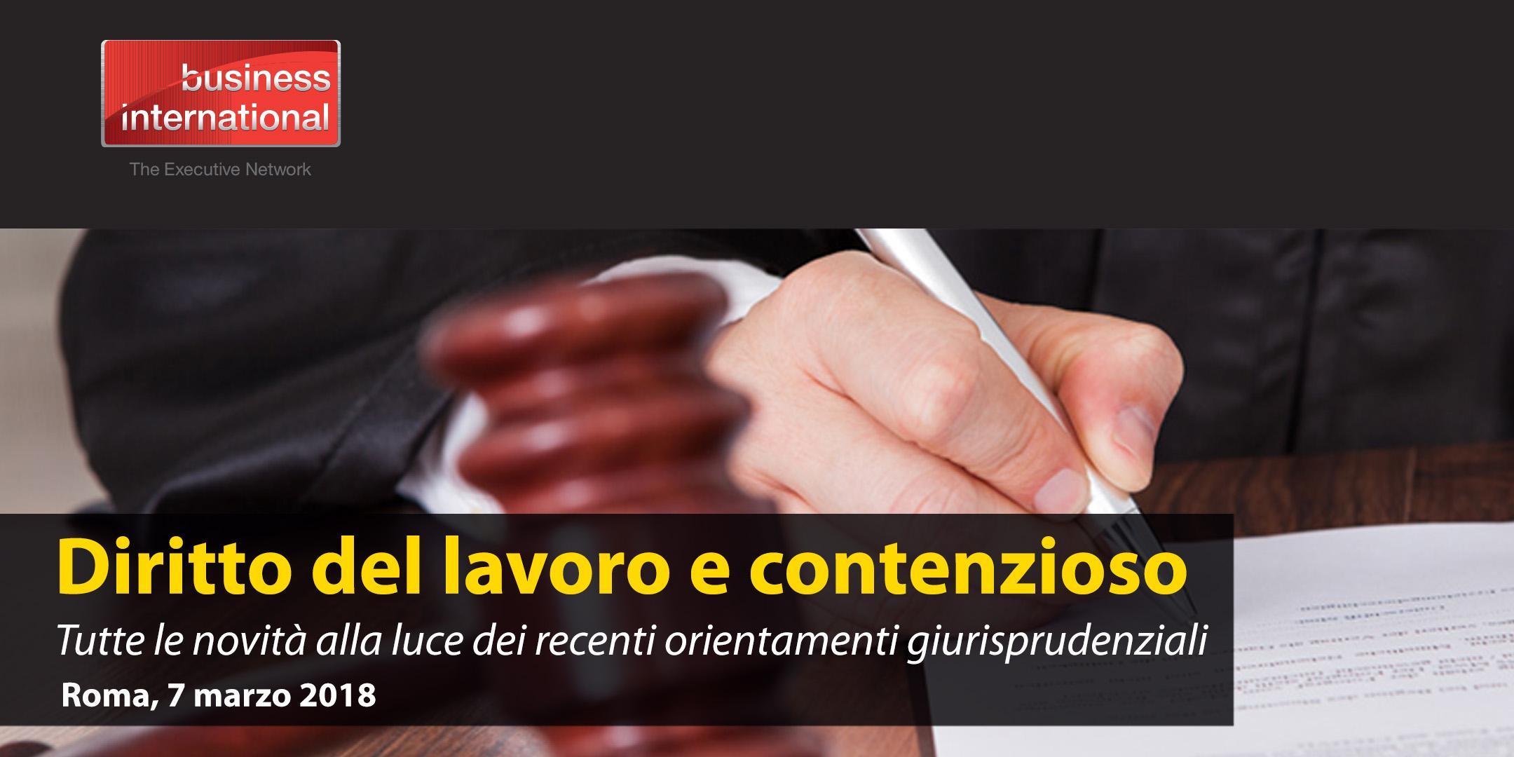 Diritto del Lavoro e Contenzioso