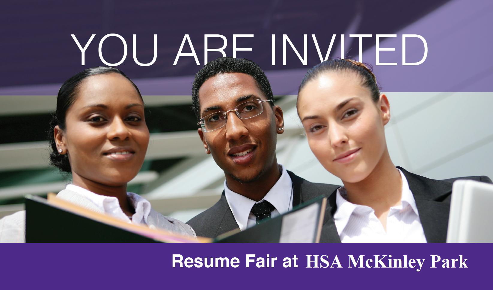 Resume Fair at HSA-McKinley Park!