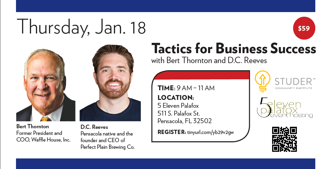 Tactics for Business Success with Bert Thornton and D.C. Reeves Event Flyer