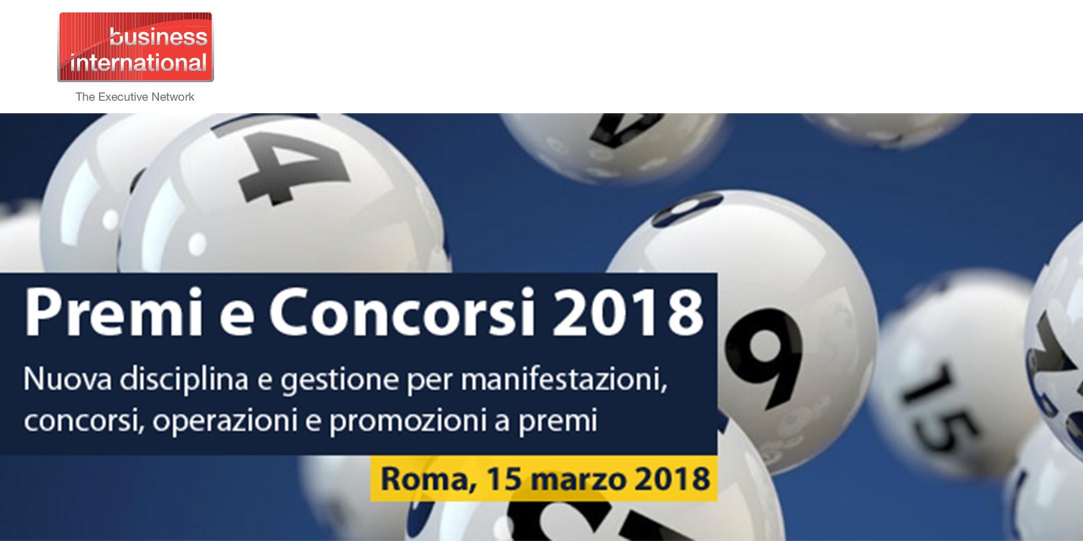 Premi e Concorsi 2018