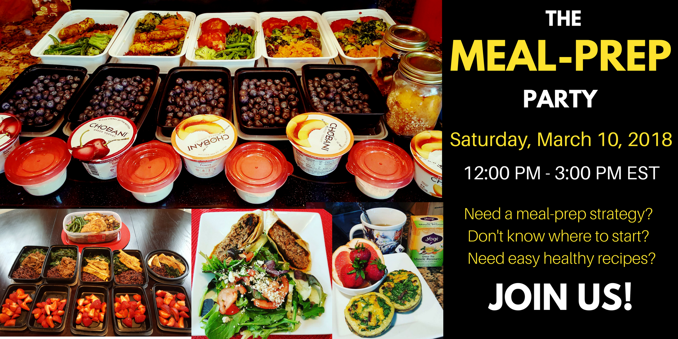 Join The MEAL PREP PARTY!  MEAL PREP for WEIG