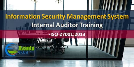 ISO 27001:2013 Information Security Management System Internal Auditor Course tickets