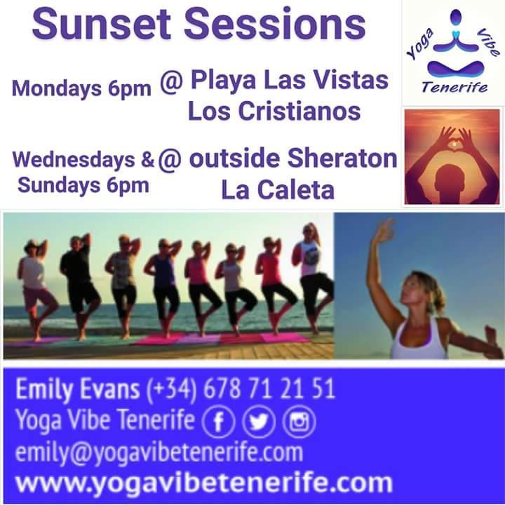 Yoga Vibe Sunset Sessions LOS CRISTIANOS Mond