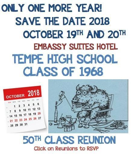 Tempe High School Class of '68 - 50th Class Reunion TICKETS CLOSED BUY @DOOR