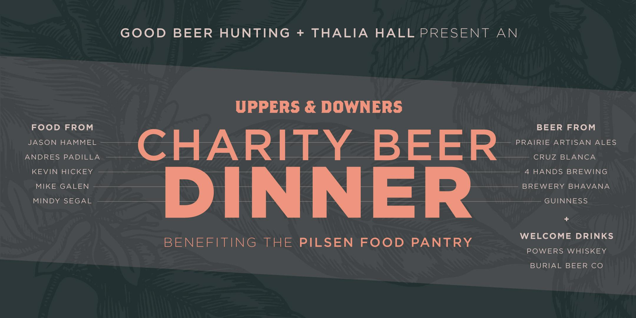 Uppers & Downers Chef's Beer Dinner @ Thalia
