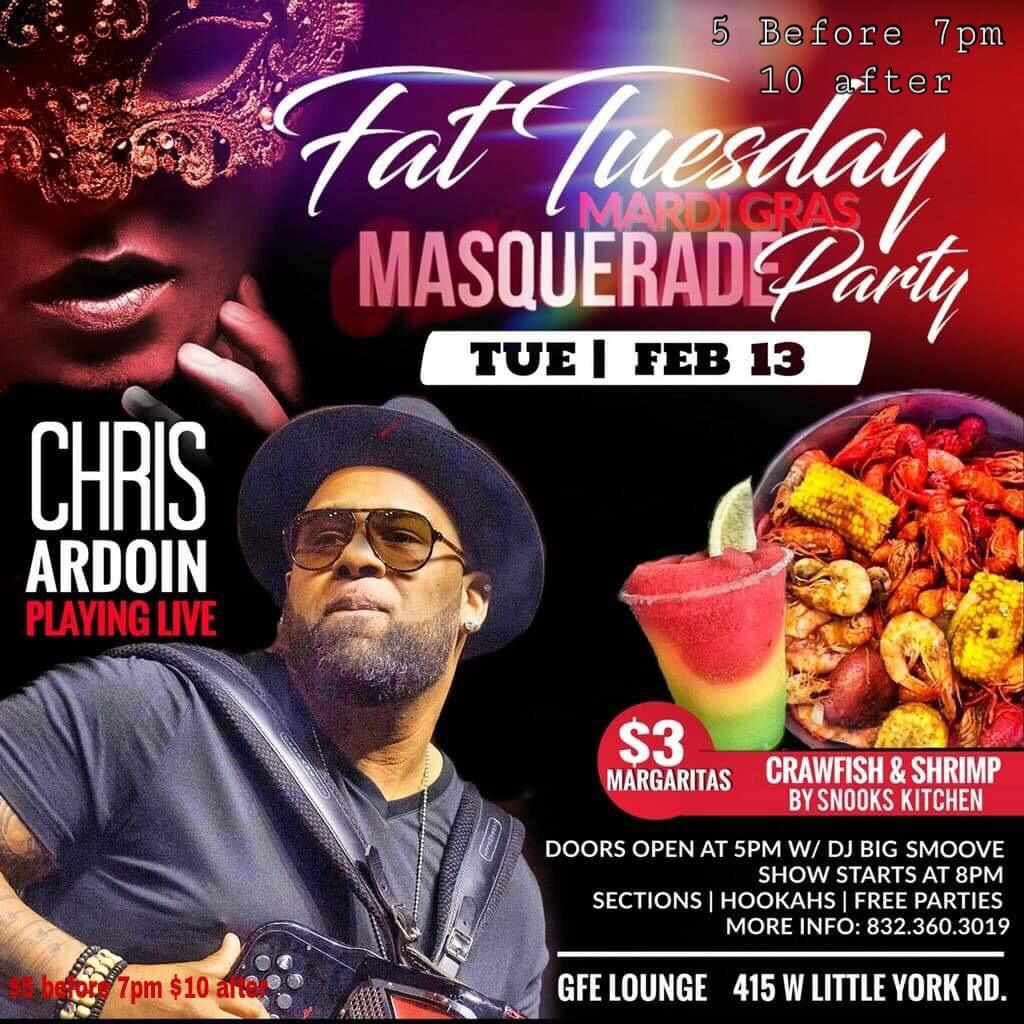 FAT Tuesday With Chris Adrion | Houston, TX | 415 W Little York Rd | February 13, 2018
