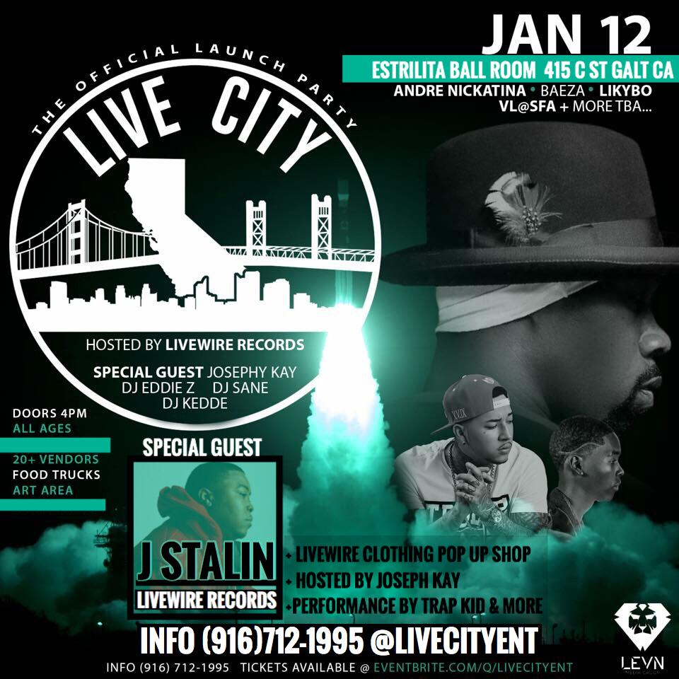 ANDRE NICKATINA + BAEZA & MORE LIVE CITY ENT OFFICIAL LAUNCH PARTY