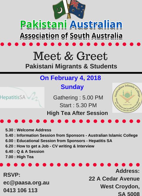 Meet greet pakistani migrants students 4 feb 2018 meet greet pakistani migrants students m4hsunfo