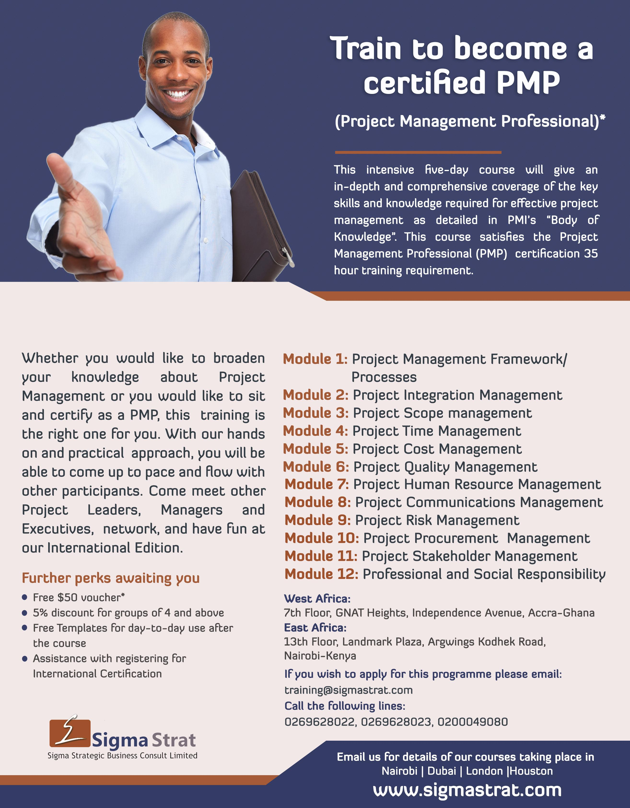 Professional Project Management Pmp Dubai 25 Mar 2018