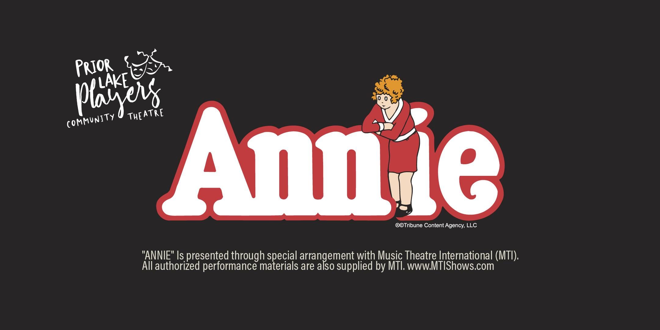 """Annie"" | Prior Lake Players Community Theatr"