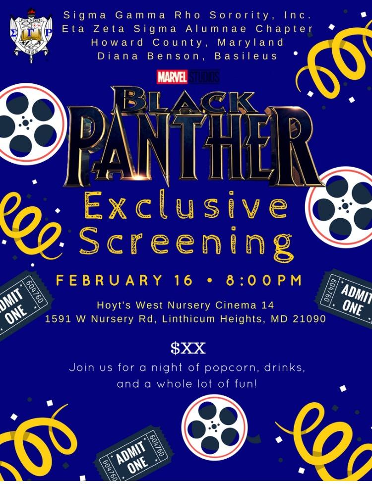 Black Panther Watch Party 16 Feb 2018