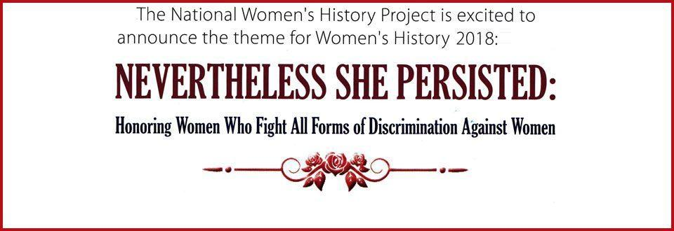 Image result for women's history month 2018