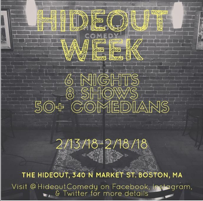 Hideout Comedy Presents: Hideout Week (8:00pm
