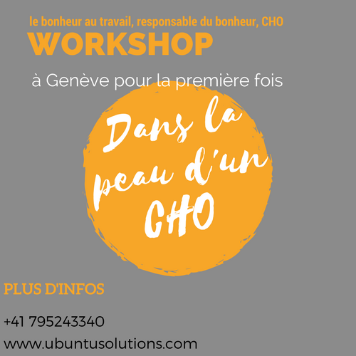Dans la peau d'un CHO (Chief Happiness Officer), responsable du bonheur !