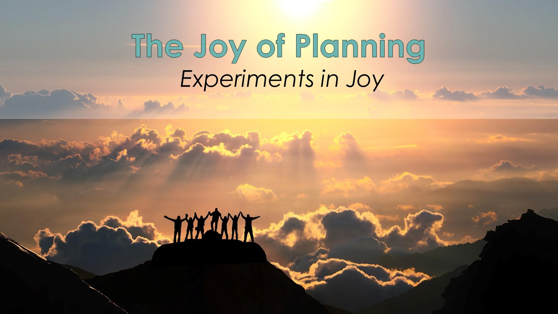 The Joy of Planning Workshop