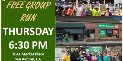 San Ramon, CA: Trivalley Running Club Fun Group Run at Sports Basement