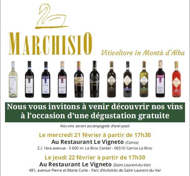 Dégustations gratuites de vins du Piémont Ita
