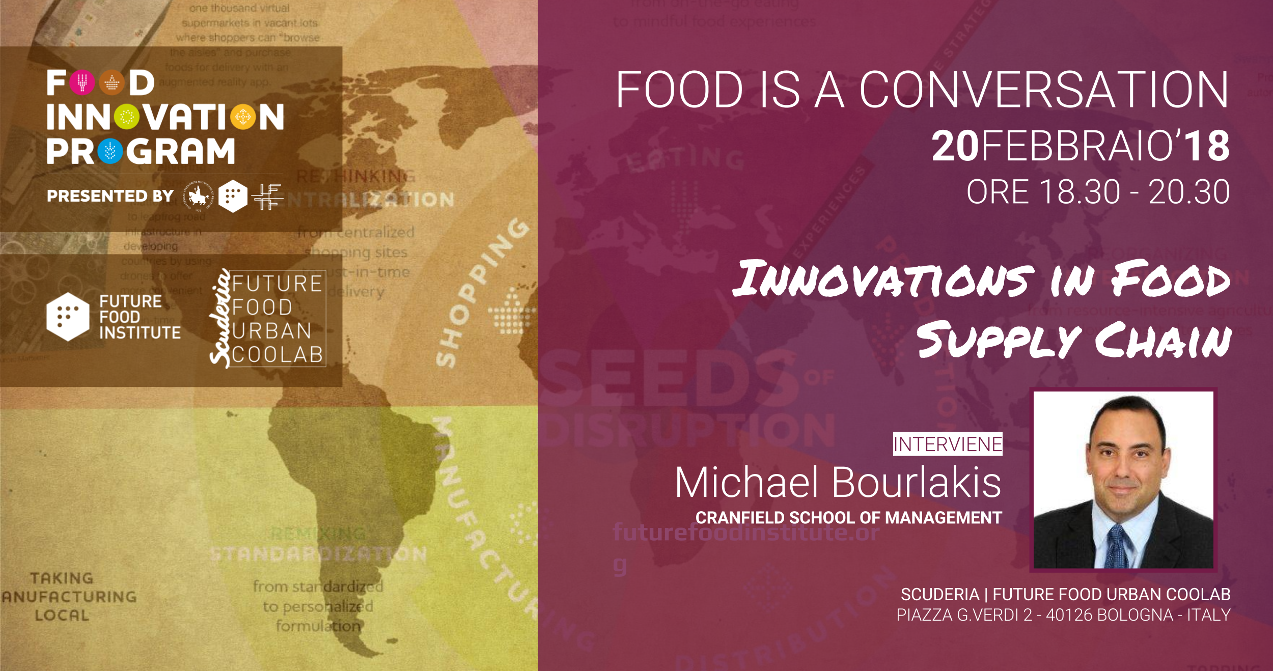 FOOD IS A CONVERSATION con Michael Bourlakis