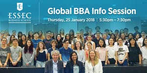 ESSEC Global BBA Information Session - 25th January