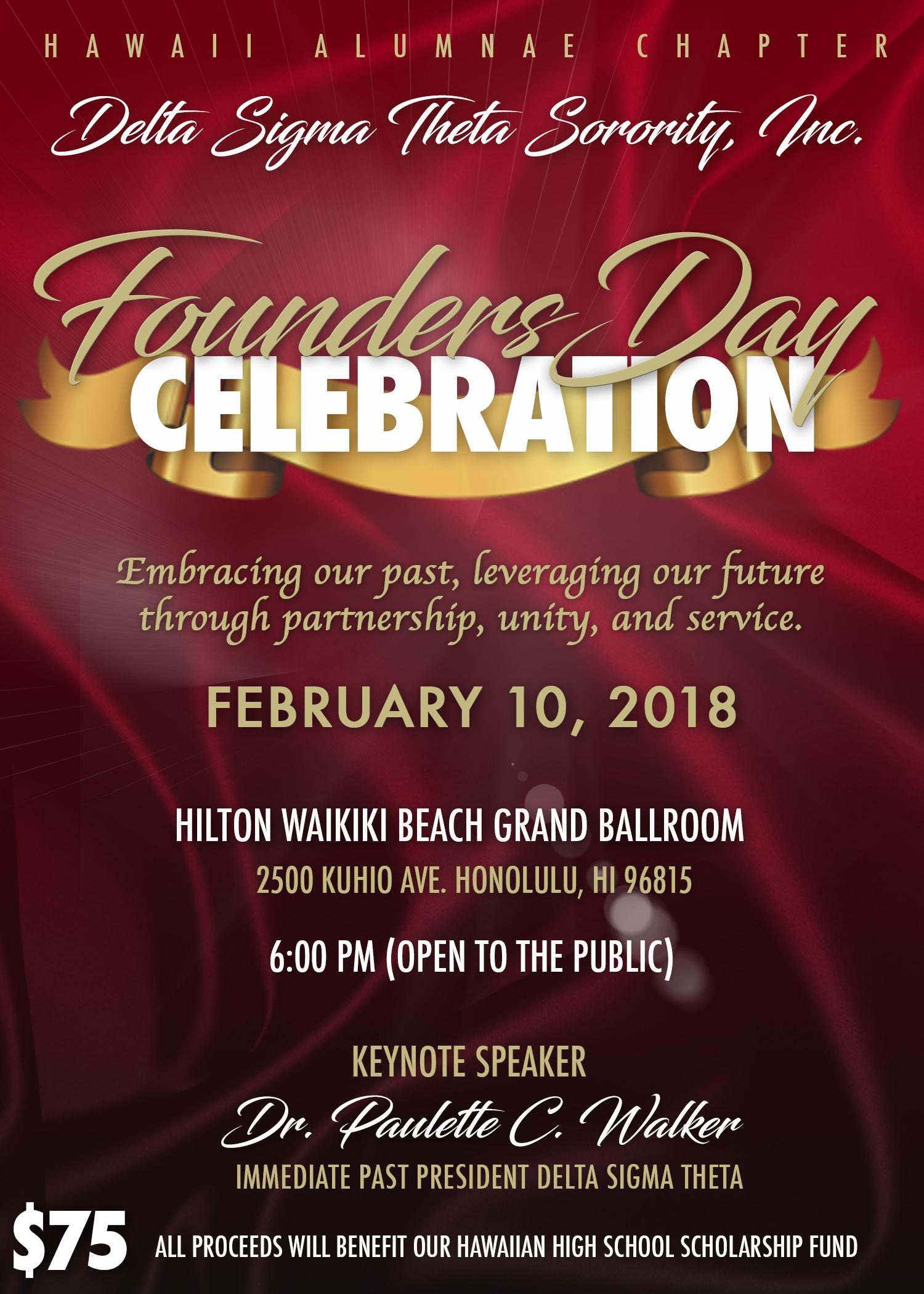 Founders Day Chapter 35th Anniversary Celebration 10 Feb 2018