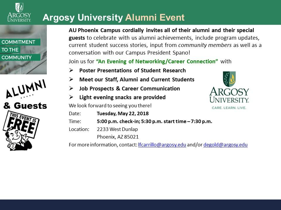 "Argosy University Alumni Event ""An Evening of"