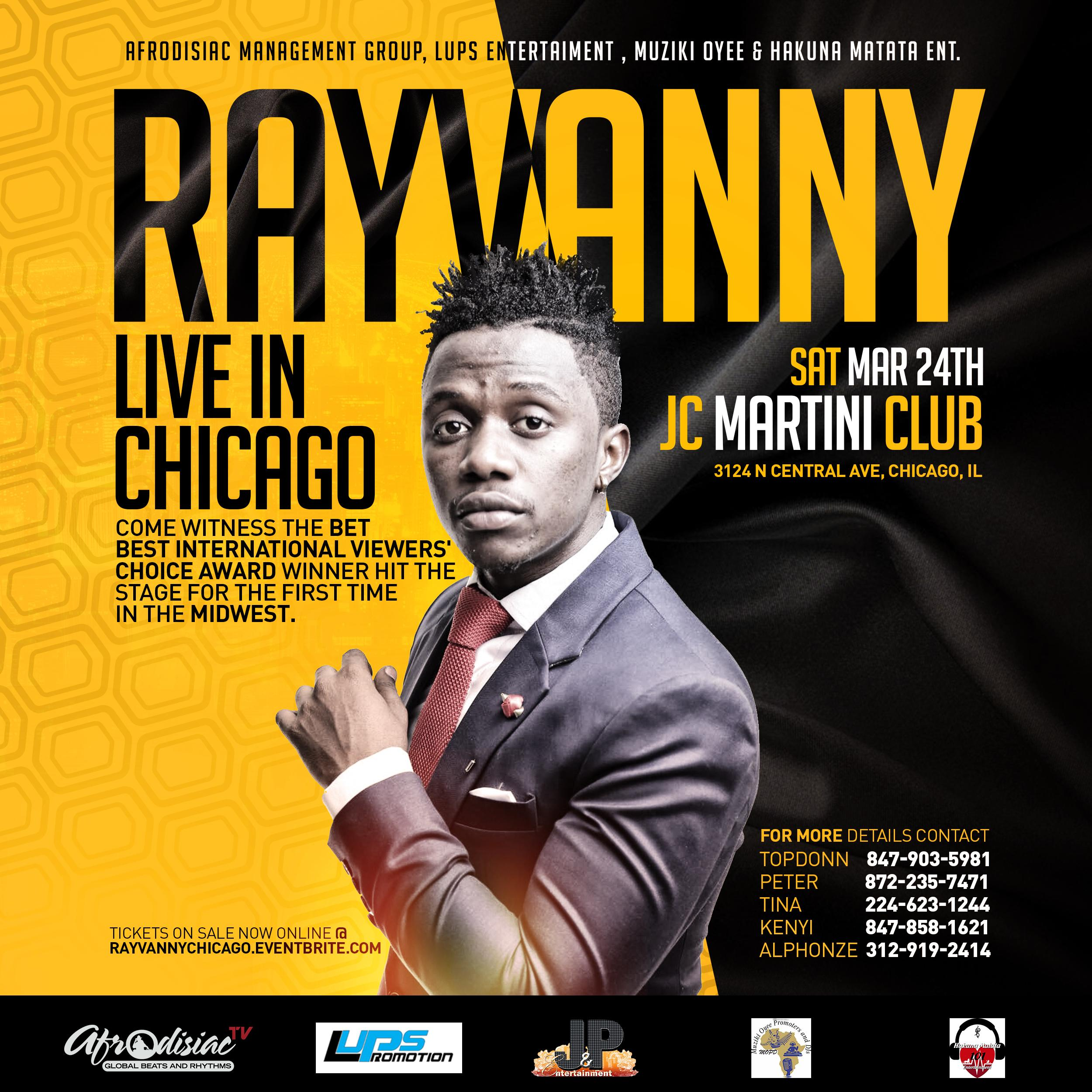 Rayvanny Performing Live In Chicago [Sat Marc