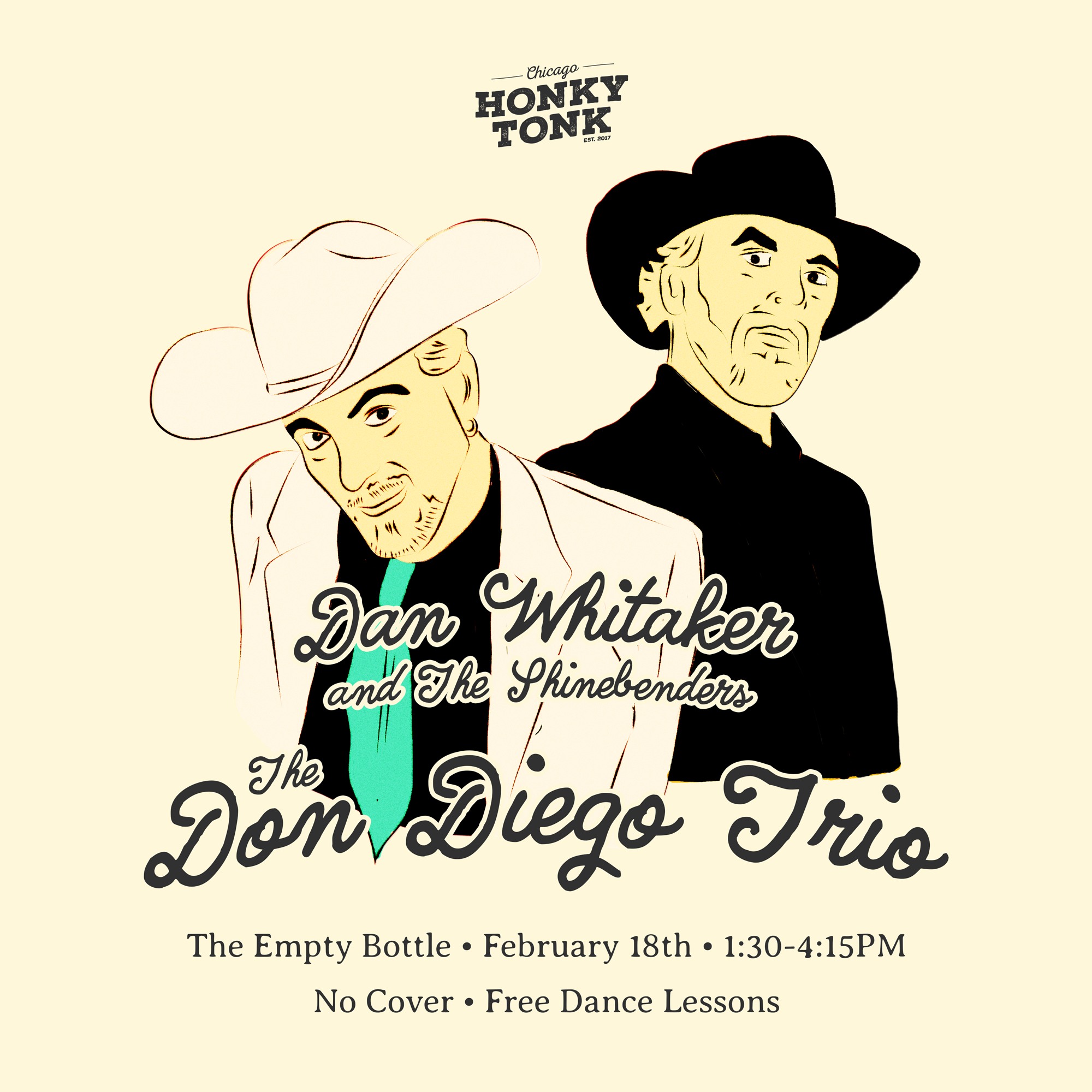 Chicago Honky Tonk presents Don Diego Trio an