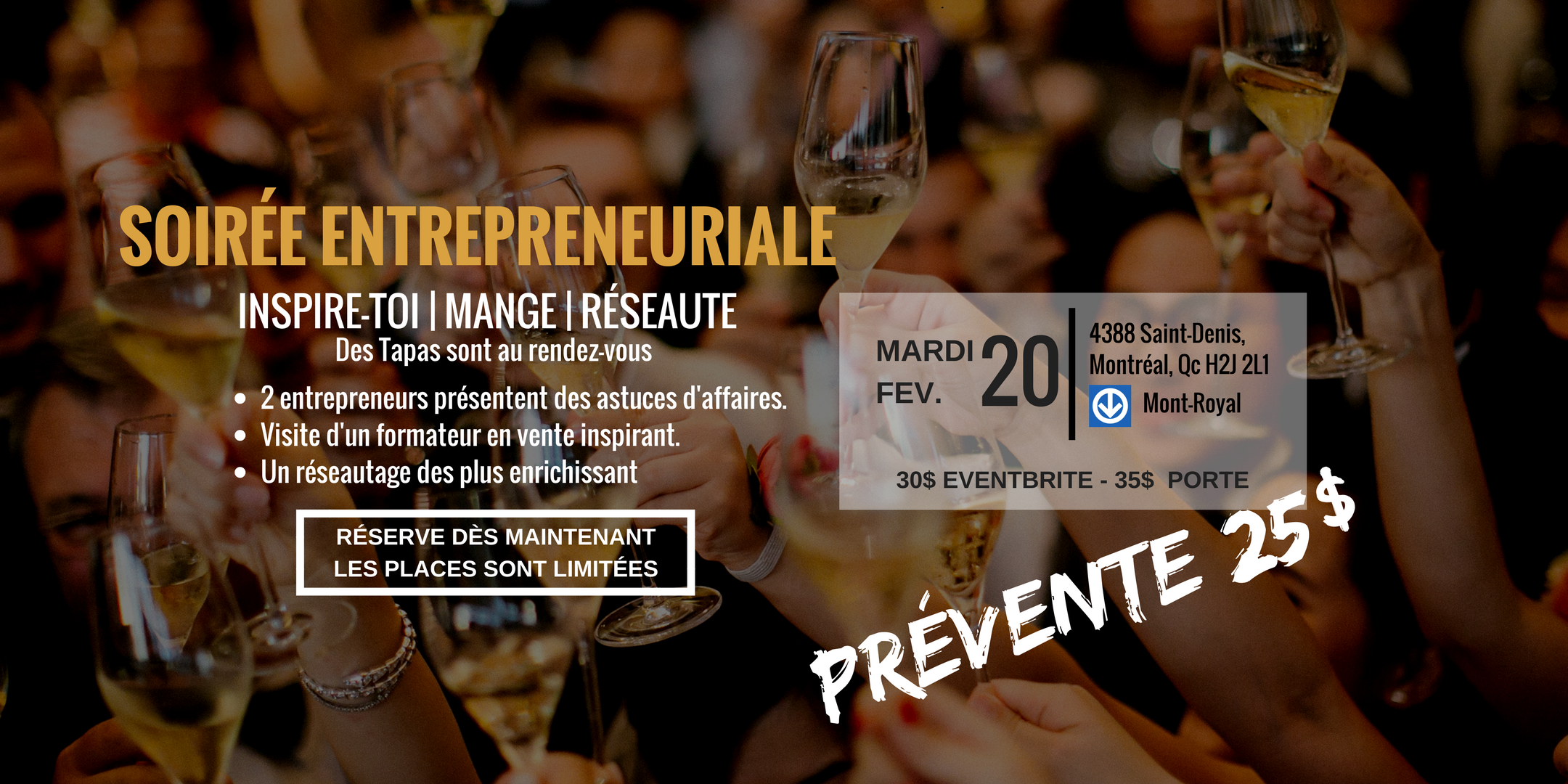 La soirée entrepreneuriale - Réseautage & Con