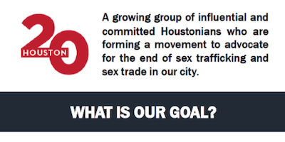The Houston 20 - Fight Against Sex Trafficking Fundraiser @1pm
