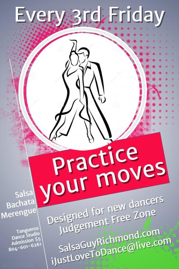 Free Salsa Dance Lesson and Dance Every 3rd F
