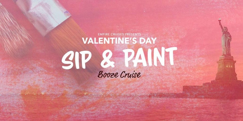 Valentine\'s Day Sip & Paint Booze Cruise Tickets, Wed, Feb 14 ...
