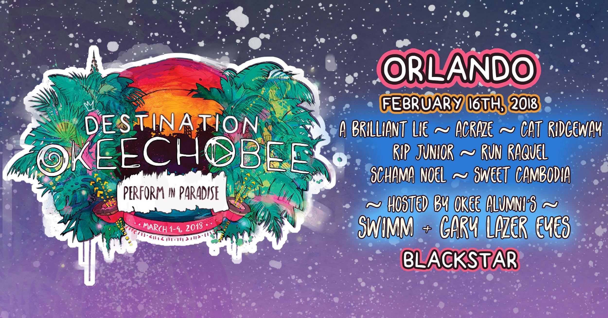 Destination Okeechobee with SWIMM & Gary Lazer Eyes Blackstar