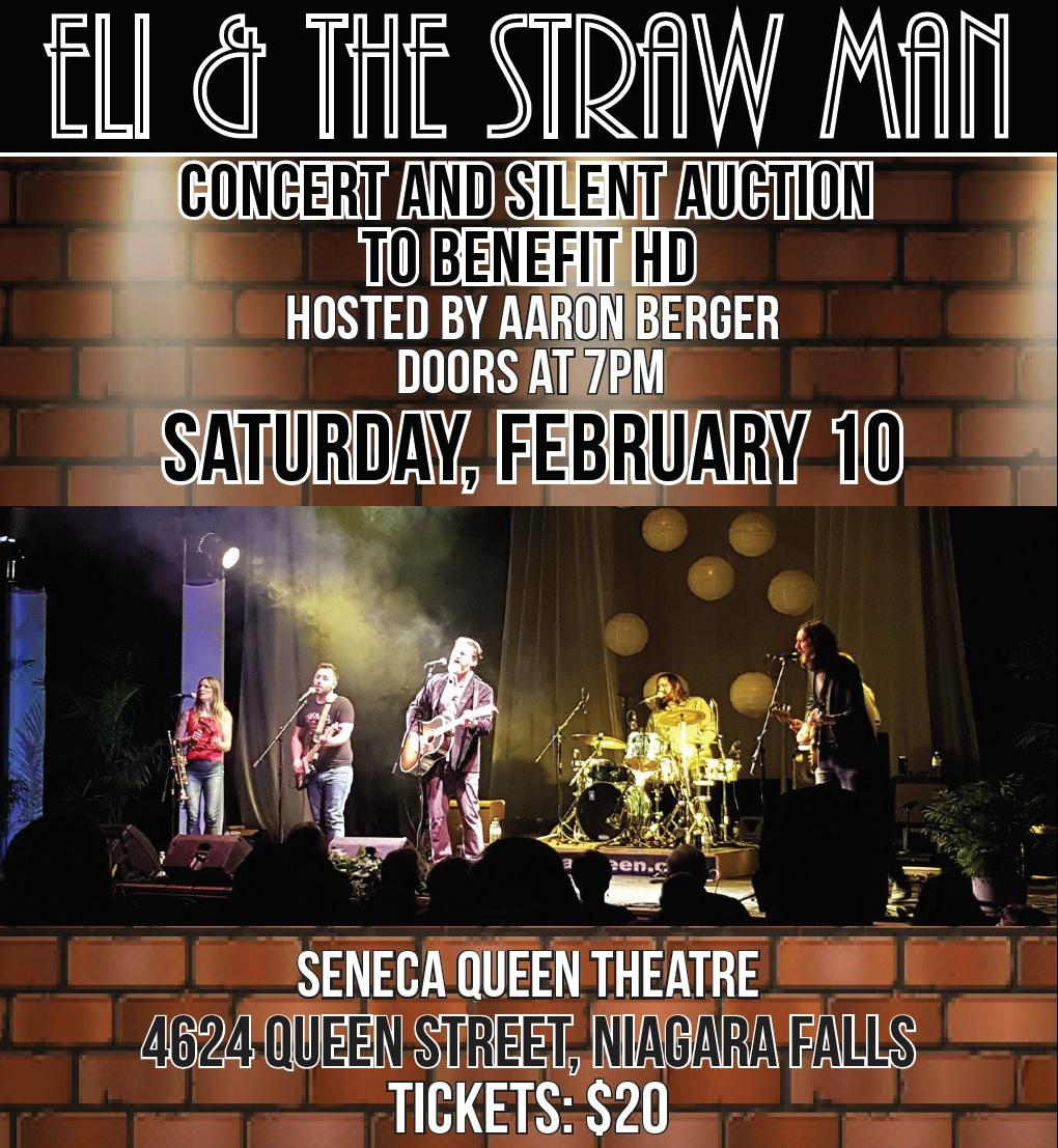 Eli & the Straw Man - Huntington Society of Canada Benefit Concert