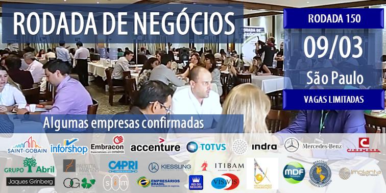 RODADA DE NEGÓCIOS - 150 INDÚSTRIAS E EMPRESA