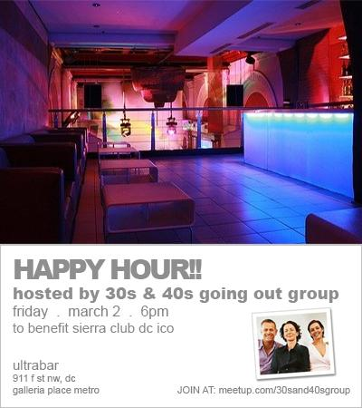 Charity Happy Hour at Ultrabar! - 30s & 40s Going Out Group