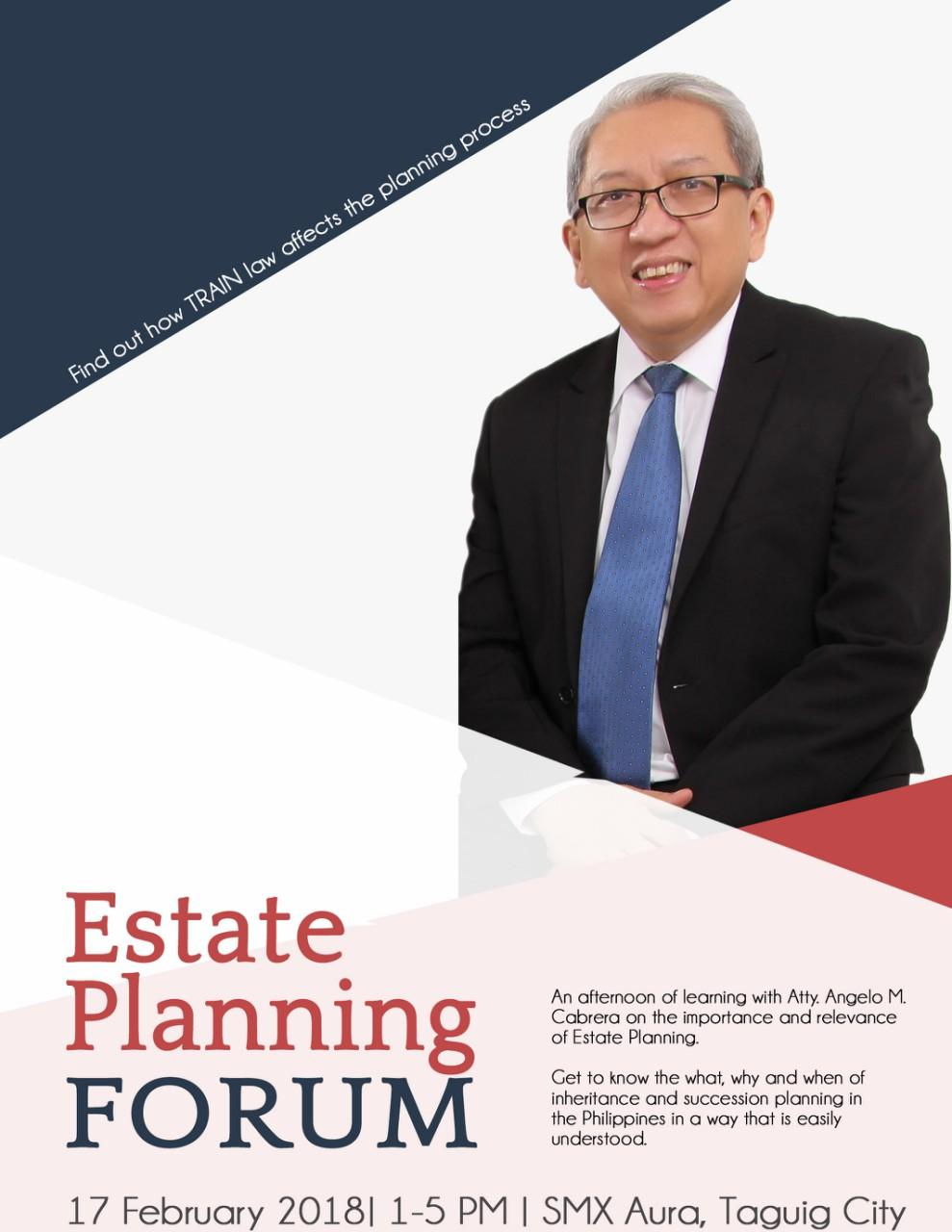 Estate Planning Forum with Atty. Angelo M. Cabrera