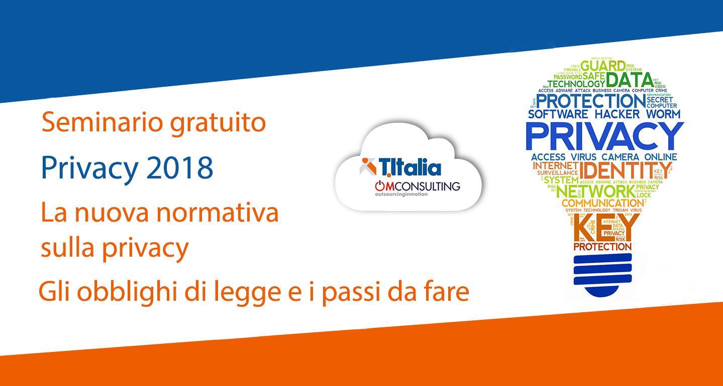 Seminario Gratuito Nuova Privacy 2018 - GDPR