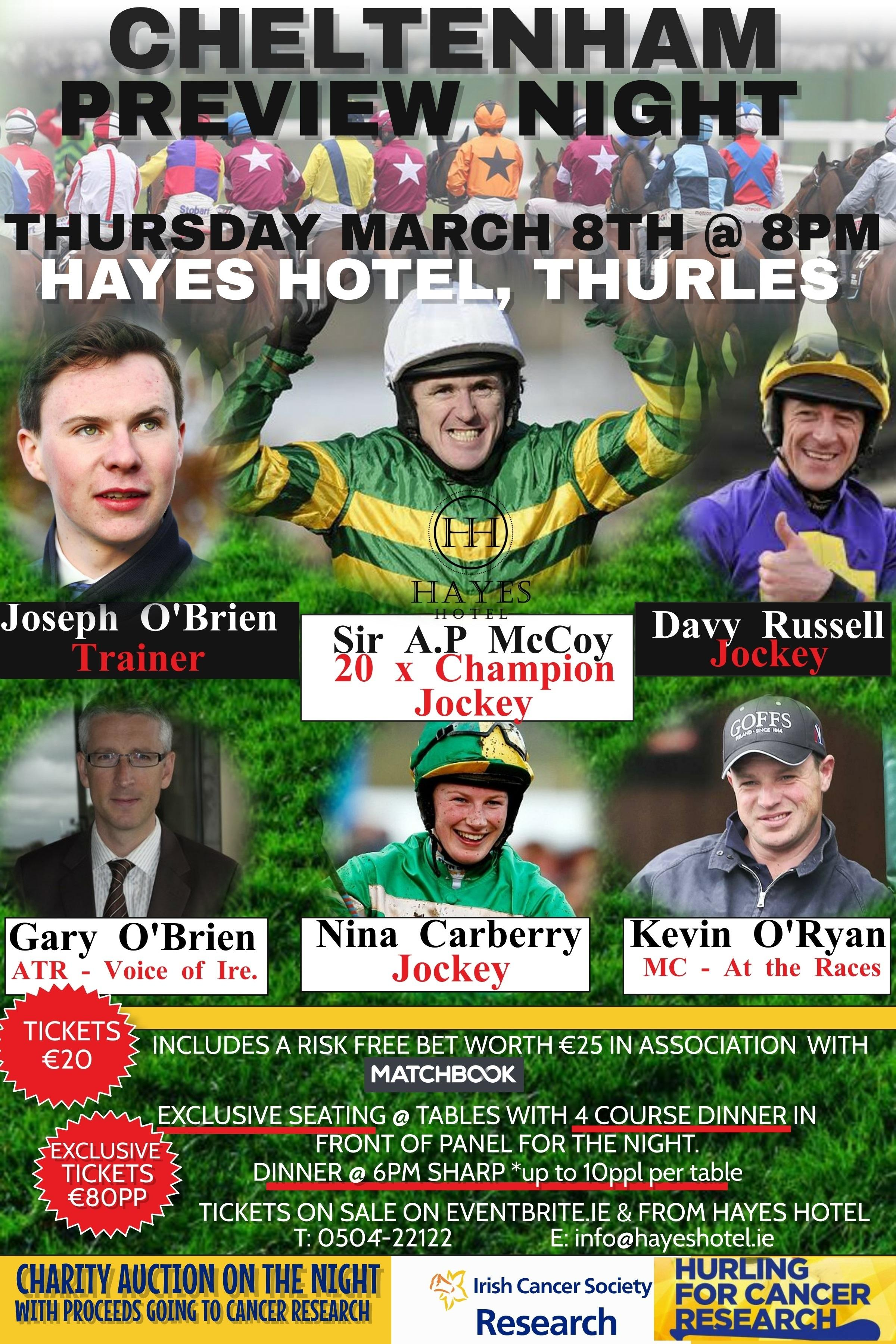 Cheltenham Preview Night @ Hayes Hotel