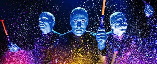 Flames in the City: Blue Man Group