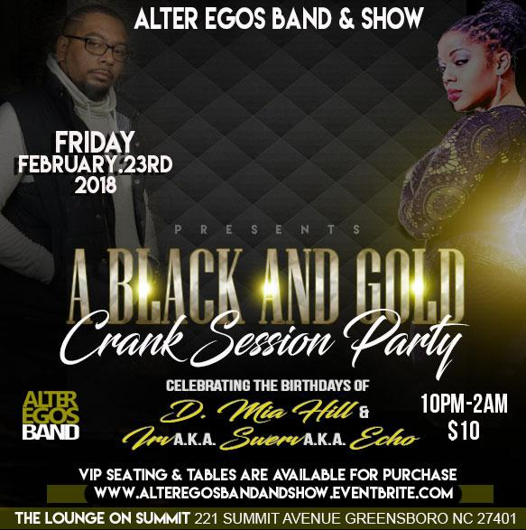 The Black and Gold Party with the Alter Egos
