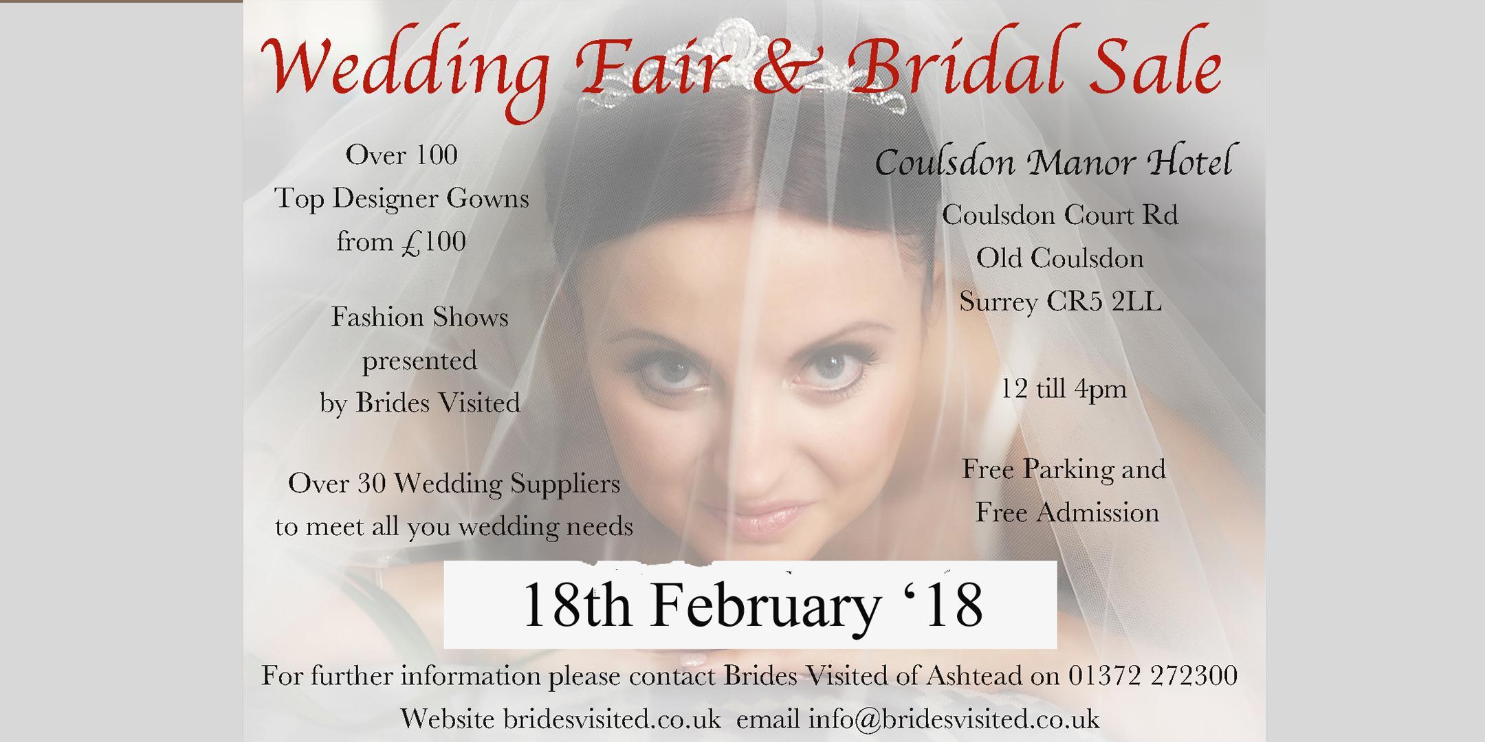 Coulsdon Manor Wedding fair & Bridal Sale