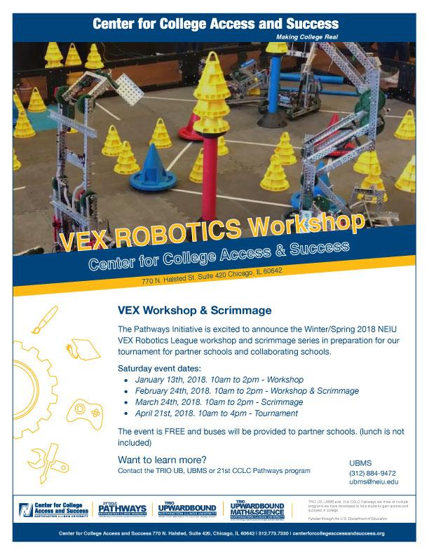 NEIU VEX ROBOTICS Workshop & Scrimmage Februa
