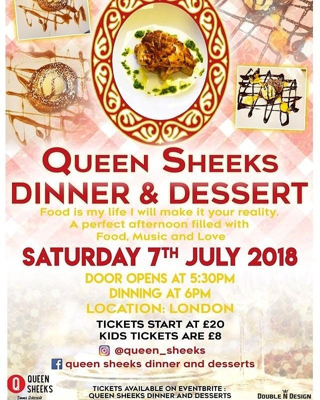 Queen Sheeks Dinner and Desserts
